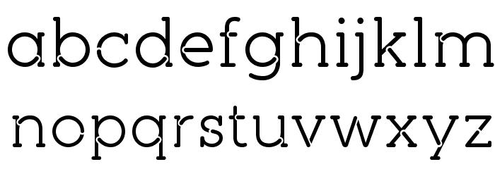 pironv2stencil Font LOWERCASE