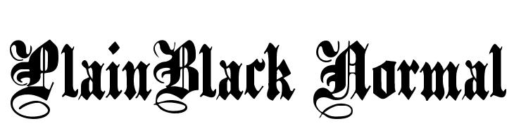 PlainBlack Normal  Free Fonts Download