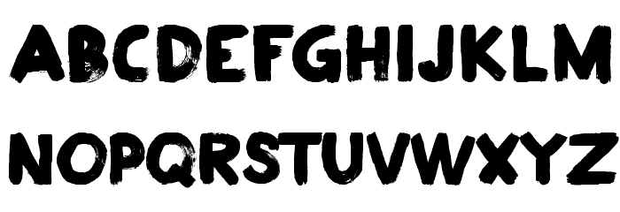 Plakkaat Font LOWERCASE