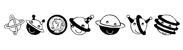 Planets  les polices de caractères gratuit télécharger