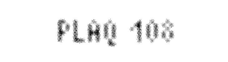 Plaq 108  नि: शुल्क फ़ॉन्ट्स डाउनलोड