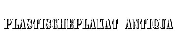 PlastischePlakat-Antiqua  Free Fonts Download