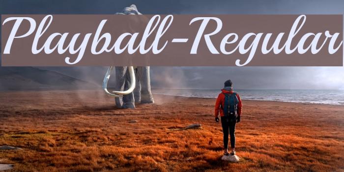 Playball-Regular Font examples