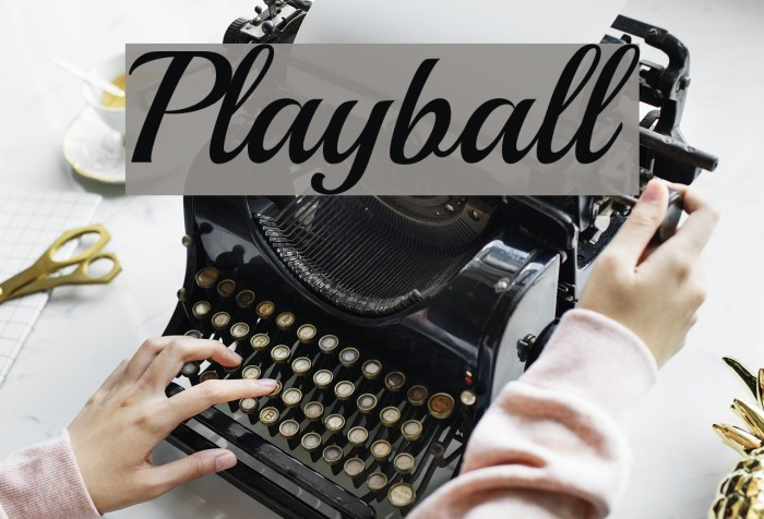 Playball Font examples