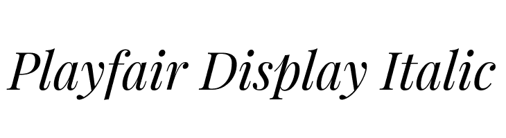 Playfair Display Italic  لخطوط تنزيل