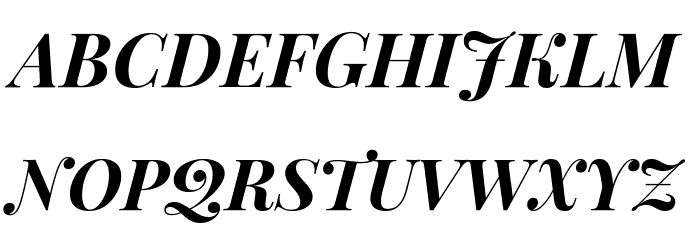 Playfair Display SC Bold Italic Font UPPERCASE