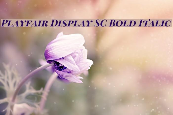 Playfair Display SC Bold Italic Fonte examples