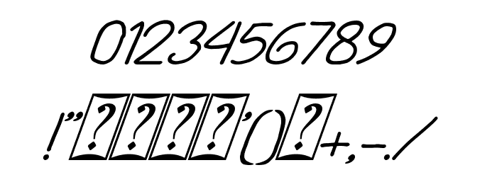 Playing Bumb Italic Font OTHER CHARS