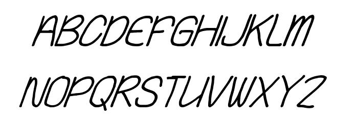 Playing Bumb Italic Font UPPERCASE