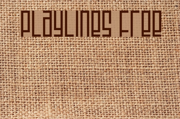 Playlines Free フォント examples