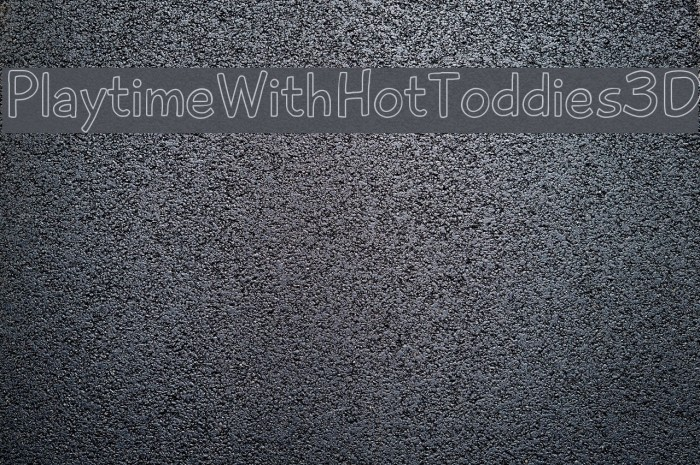 PlaytimeWithHotToddies3D Font examples