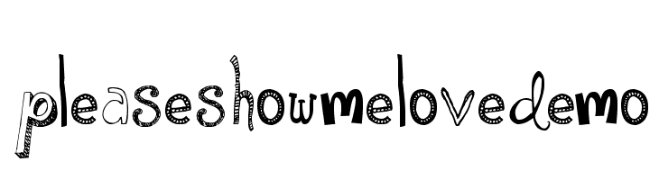 PleaseShowMeLoveDEMO  Free Fonts Download