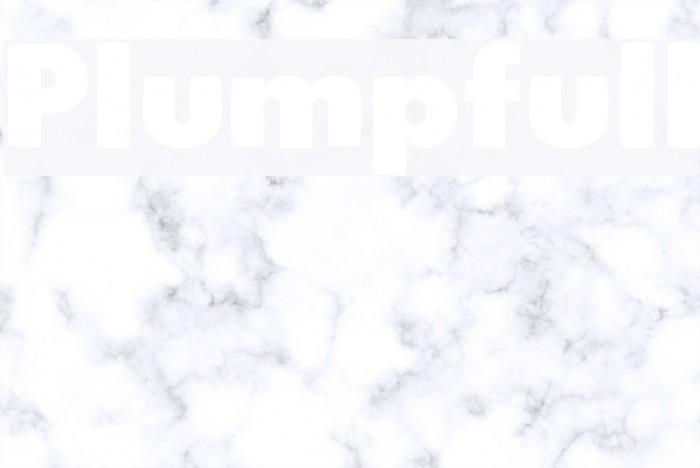 Plumpfull फ़ॉन्ट examples