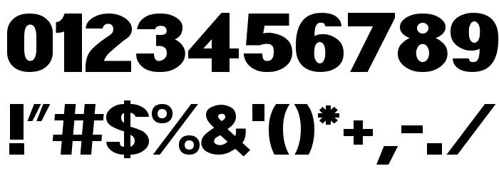 POE Sans Pro Expanded Heavy Шрифта ДРУГИЕ символов