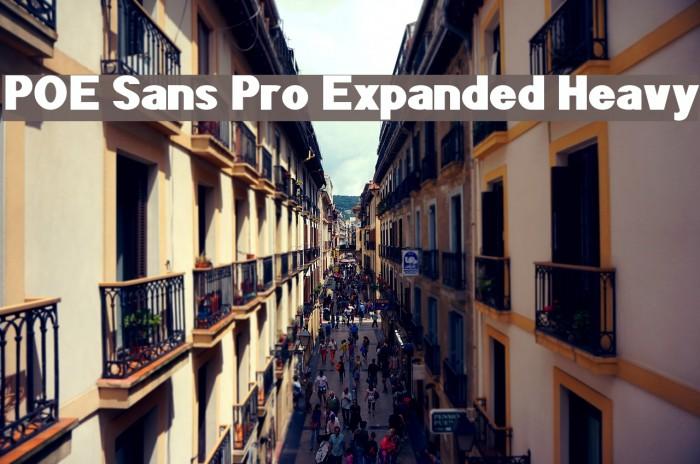 POE Sans Pro Expanded Heavy Шрифта examples