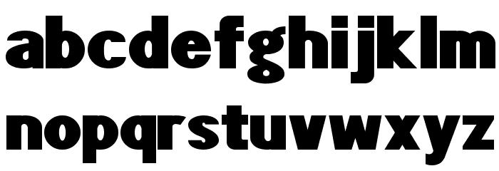 POE Sans Pro Expanded Heavy Шрифта строчной