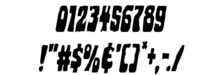 Pocket Monster Condensed Italic Font OTHER CHARS