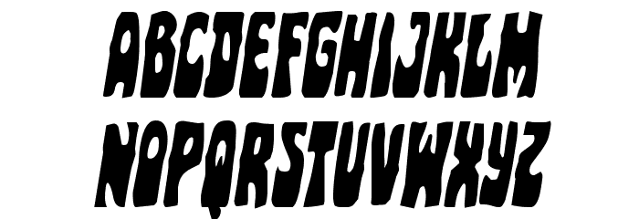 Pocket Monster Condensed Italic Font UPPERCASE