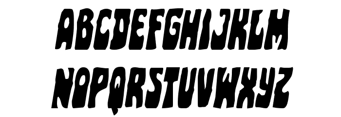 Pocket Monster Condensed Italic Font LOWERCASE
