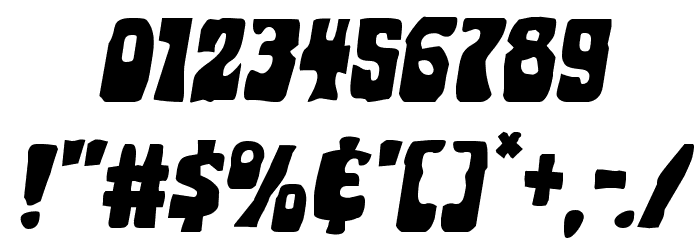 Pocket Monster Expanded Italic Font OTHER CHARS