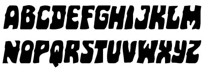 Pocket Monster Expanded Italic Font LOWERCASE