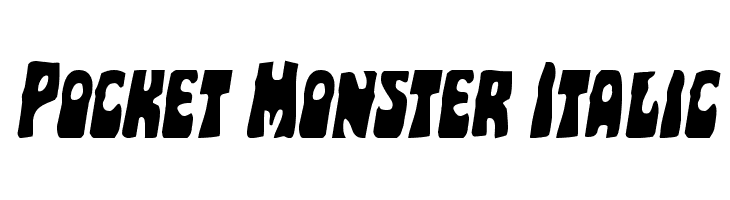 Pocket Monster Italic  Free Fonts Download