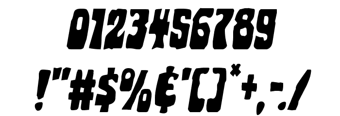 Pocket Monster Italic Font OTHER CHARS
