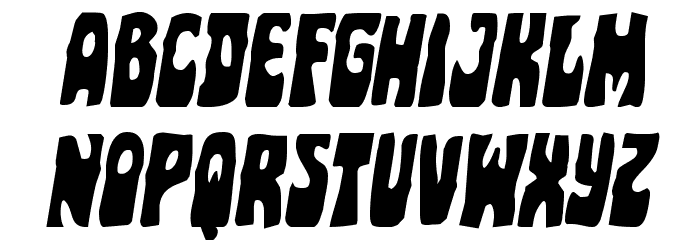 Pocket Monster Italic Font UPPERCASE