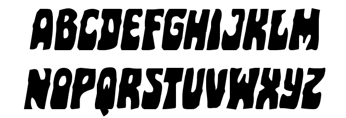 Pocket Monster Italic Font LOWERCASE