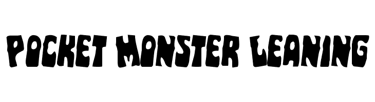 Pocket Monster Leaning  Free Fonts Download