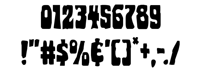 Pocket Monster Leaning Font OTHER CHARS