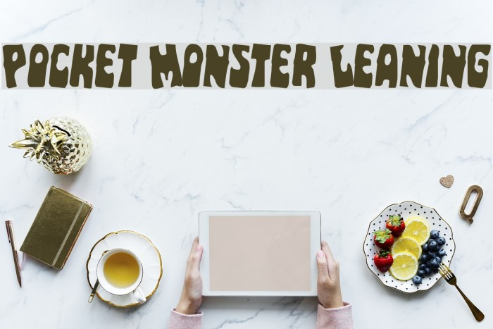 Pocket Monster Leaning Font examples