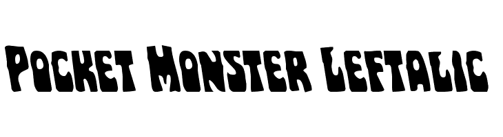 Pocket Monster Leftalic  Free Fonts Download