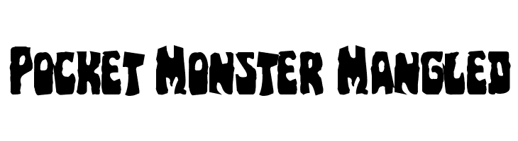 Pocket Monster Mangled  免费字体下载