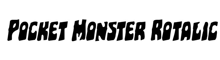 Pocket Monster Rotalic  Free Fonts Download