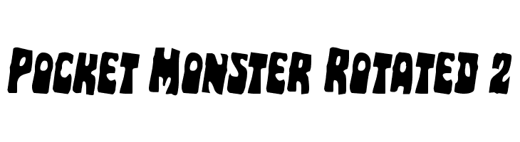 Pocket Monster Rotated 2  Free Fonts Download