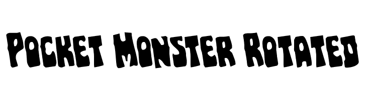 Pocket Monster Rotated Font