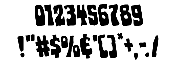 Pocket Monster Rotated Font OTHER CHARS