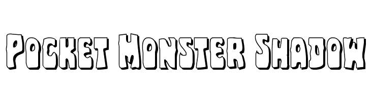Pocket Monster Shadow Font