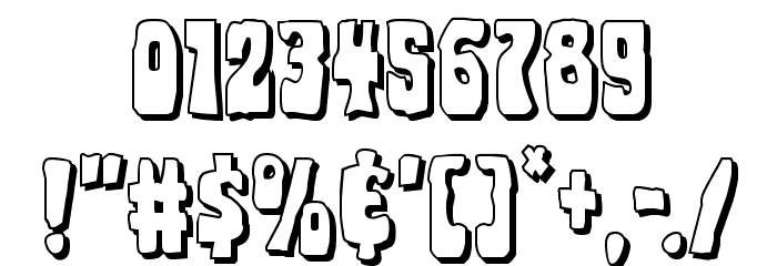 Pocket Monster Shadow Font OTHER CHARS