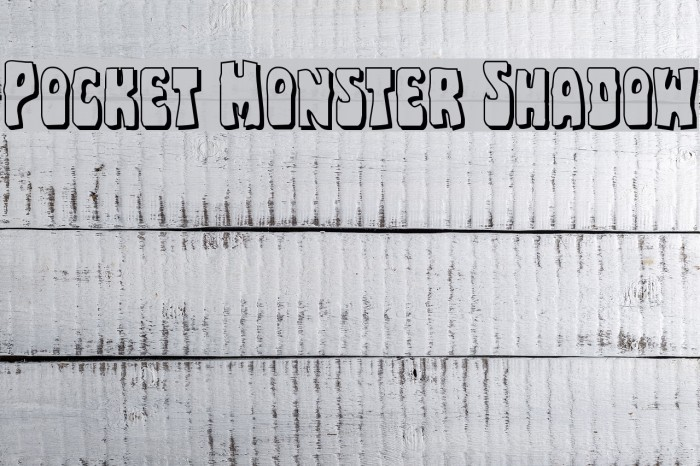 Pocket Monster Shadow Font examples