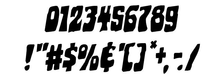 Pocket Monster Staggered Rotalic Font OTHER CHARS