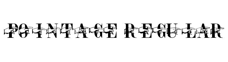 Pointage Regular  baixar fontes gratis