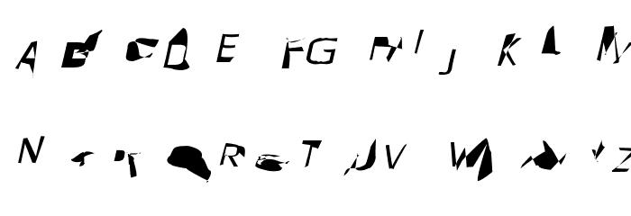 Pointer ExtraExtended Oblique Font UPPERCASE