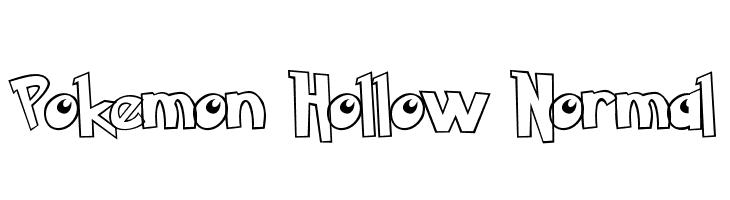 Pokemon Hollow Normal  font caratteri gratis