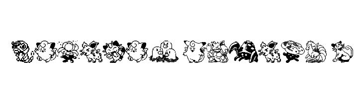 Pokemon pixels 1  Free Fonts Download