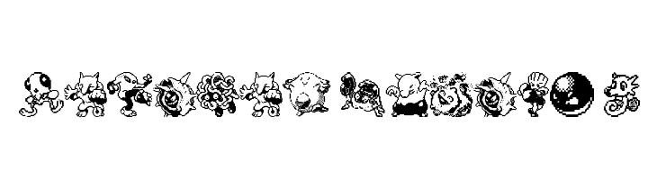 Pokemon pixels 2  Free Fonts Download