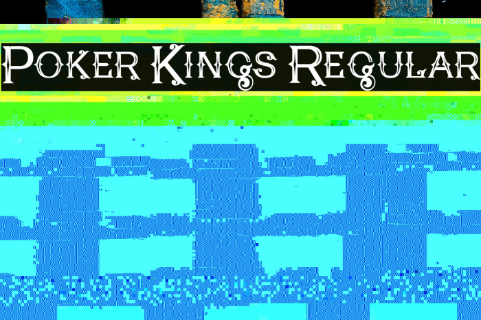 Poker Kings Regular फ़ॉन्ट examples