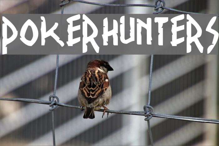 PokerHunters Font examples