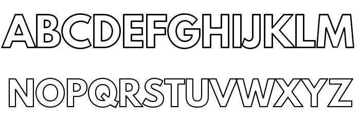 Poland Can Into Big Writings Outline Font